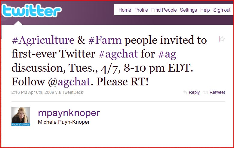 The First #agchat Tweet