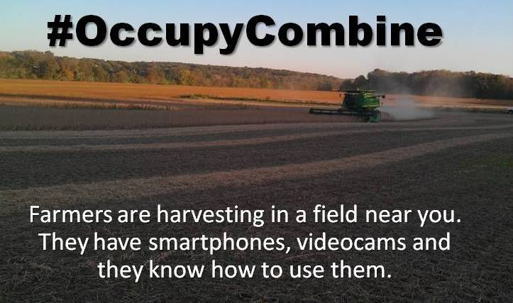 Occupy Combine on our farm